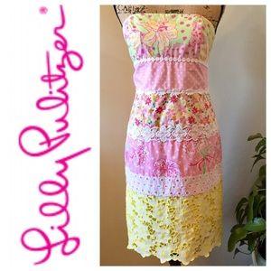 🆕 ☘️⬇️ Lilly Pulitzer Strapless Dress VGUC